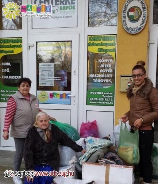 A Karitáció Alapítvány adománya a Centerke Adományozói Központnak